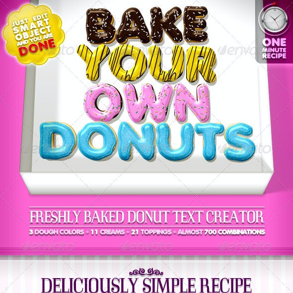 Doughnut Text Creator // almost 700 Combinations