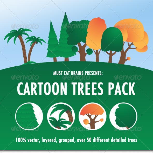 Cartoon Trees Pack