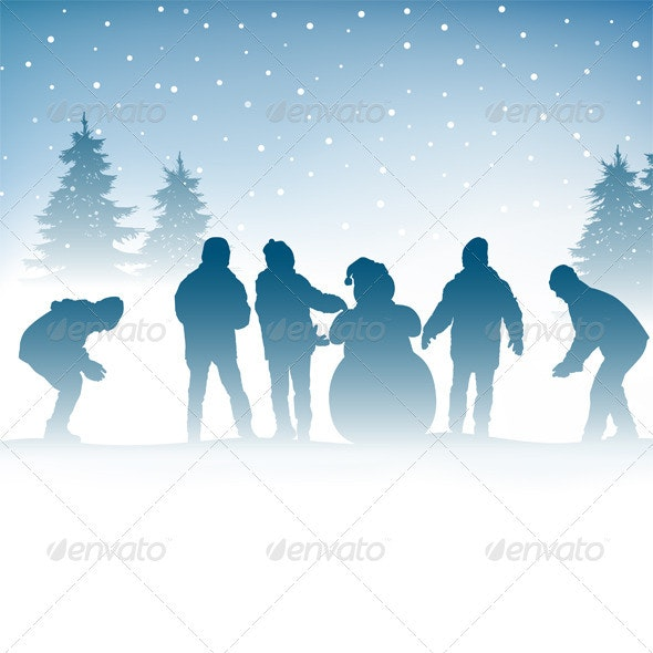 Winter and Children - Seasons/Holidays Conceptual