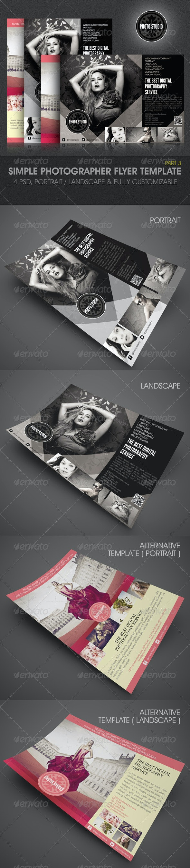 Simple Photographer Flyer Template  - Corporate Flyers