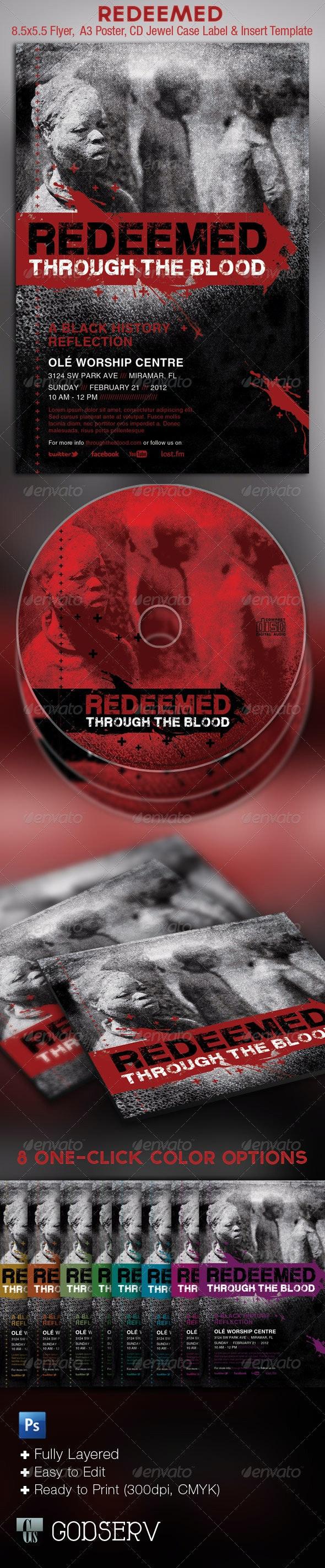 Redeemed Black History Flyer CD Template - Church Flyers