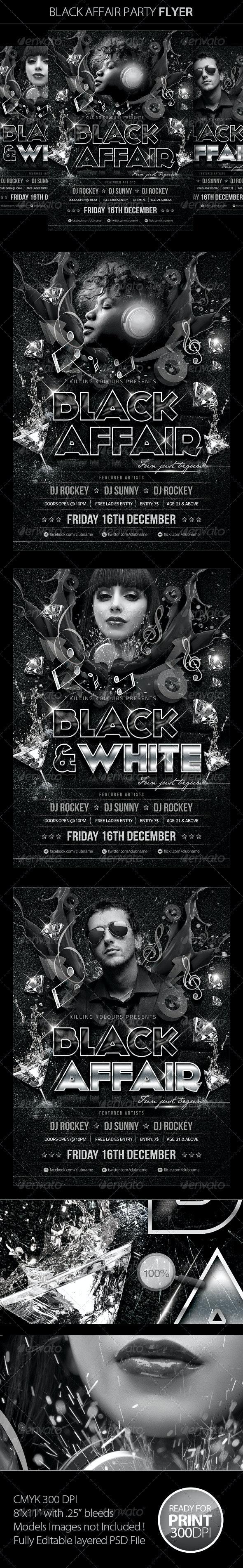 Black Affair Party Flyer - Clubs & Parties Events