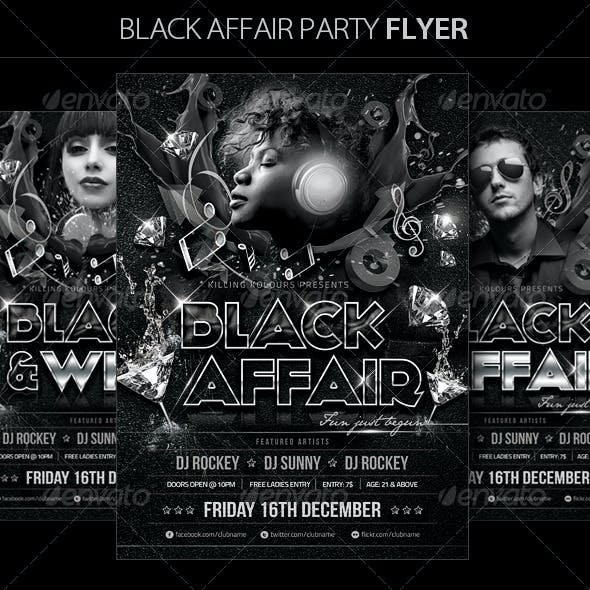 Black Affair Party Flyer