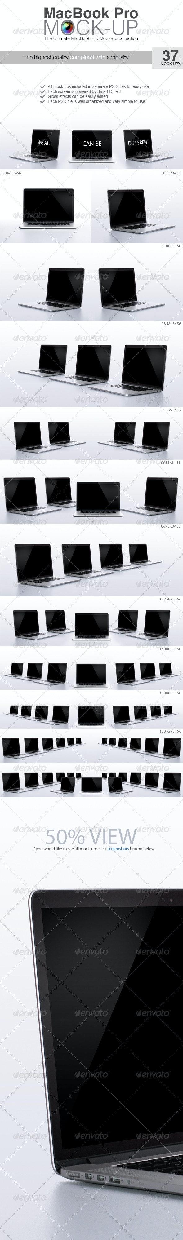 Macbook Pro Mock-up - Laptop Displays