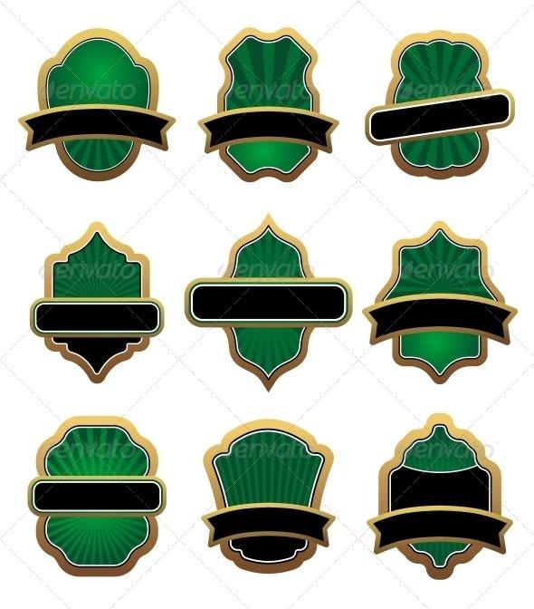 Set of Heraldic Symbols - Borders Decorative