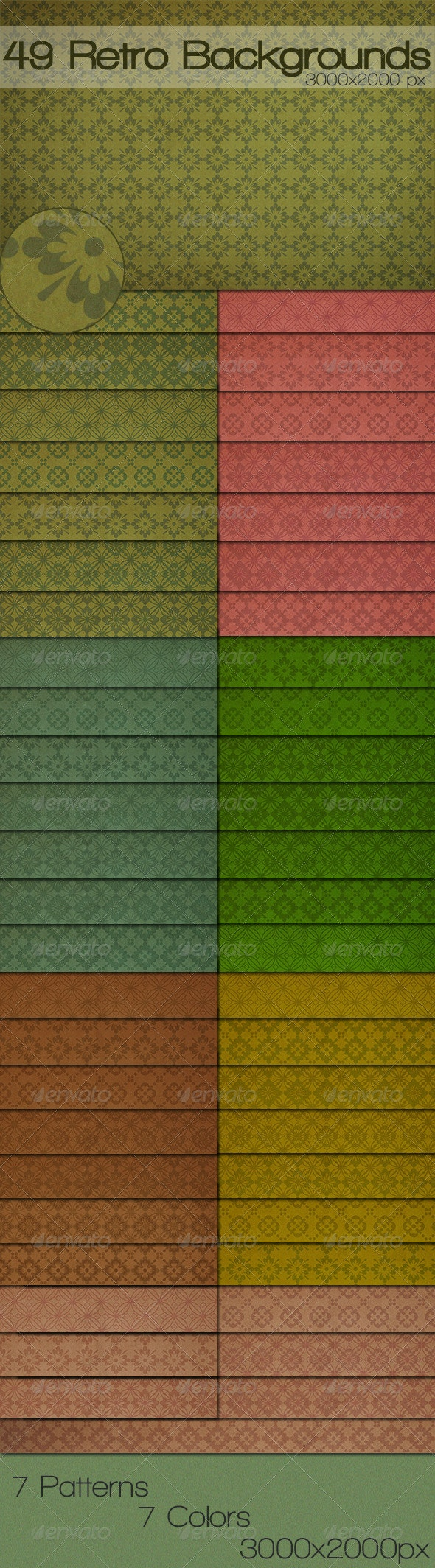 49 Retro Wallpapers - Patterns Backgrounds