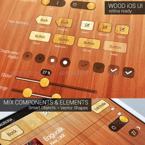 iOS Wood UI Kit