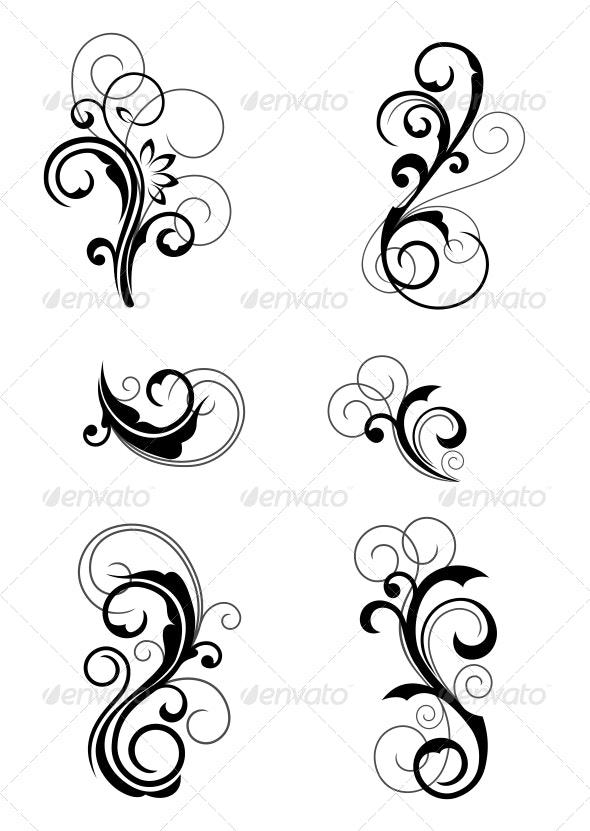 Floral Patterns - Decorative Symbols Decorative