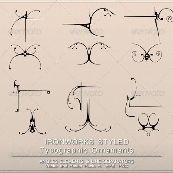 Ironworks Styled Page Decorations