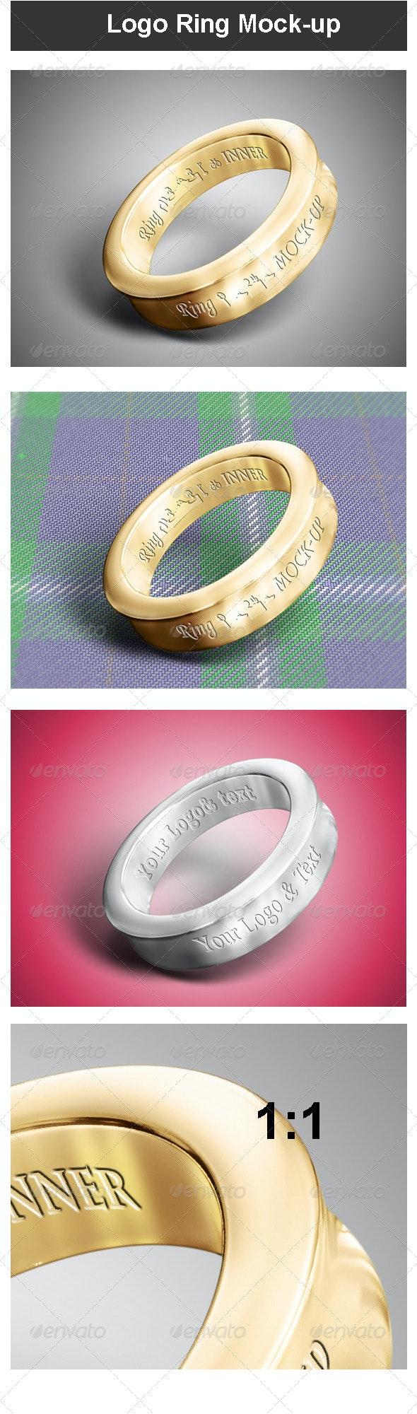 Logo Ring Mock-up - Logo Product Mock-Ups