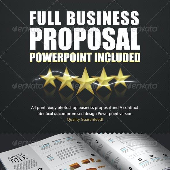 Spacious Business Proposal Template - PPTX + PSD