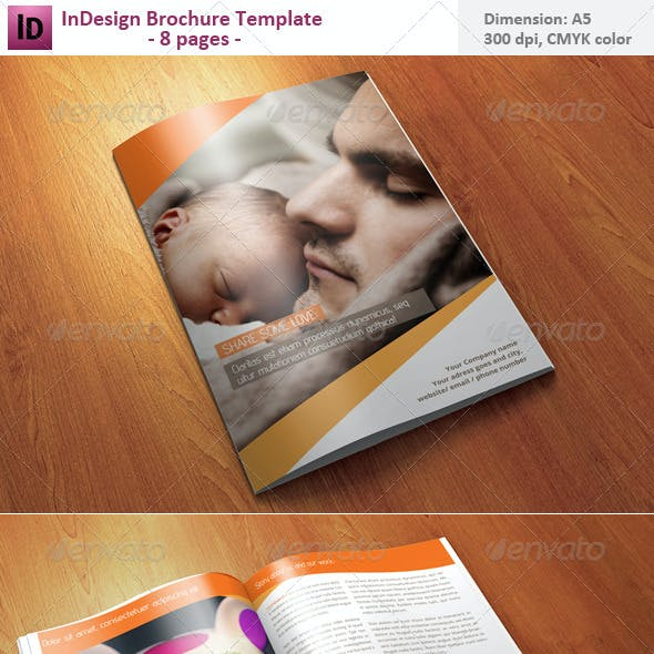 InDesign Brochure Template - 8 pages