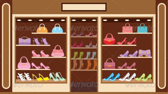 Shoe Store - Man-made Objects Objects