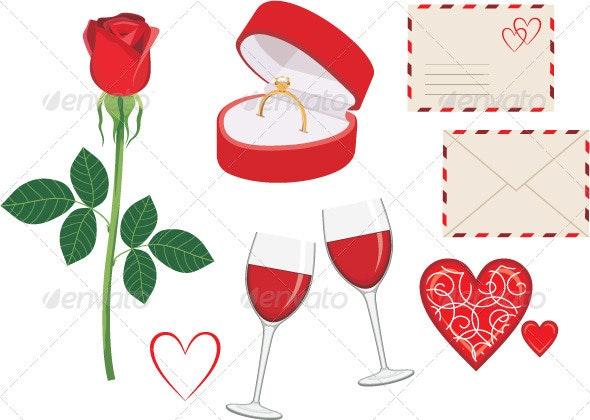 Valentine Day Icon Set - Valentines Seasons/Holidays