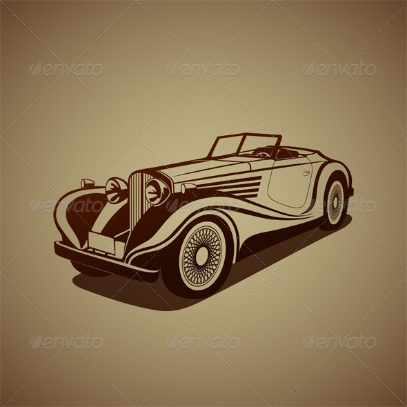Antique Car - Man-made Objects Objects