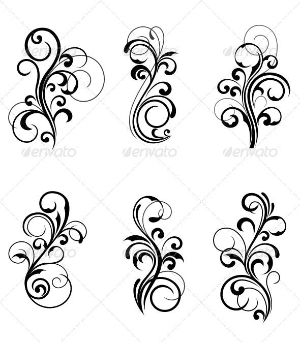 Floral Patterns - Flourishes / Swirls Decorative