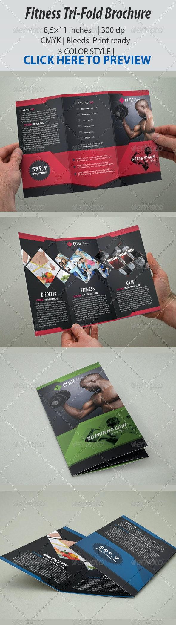Fitness Brochure Tri-Fold - Corporate Brochures