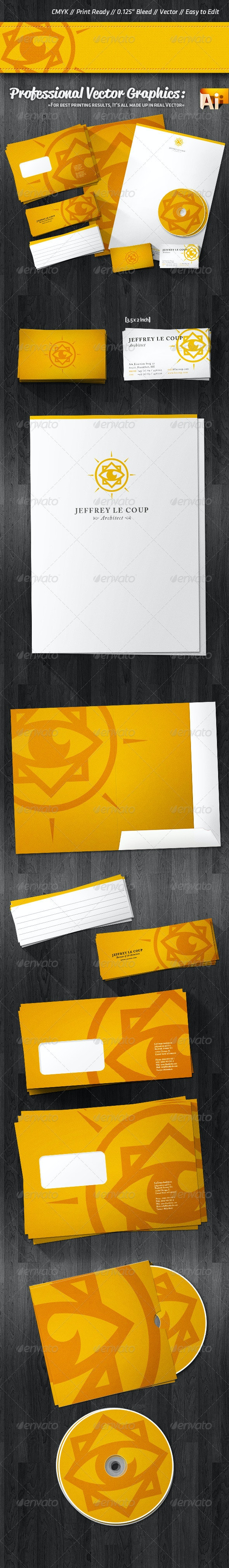 Professional Clean Corporate Identity Package - Stationery Print Templates
