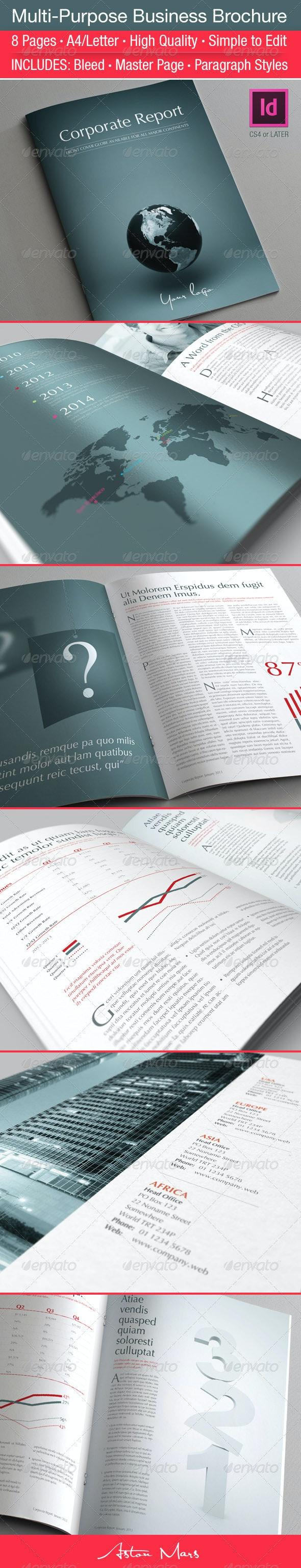 Multi-Purpose Business Brochure - Corporate Brochures