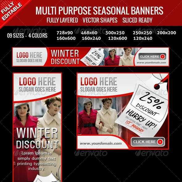 Multipurpose Seasonal Banners