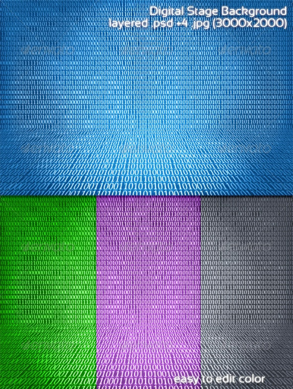 Digital Stage Background - Backgrounds Graphics