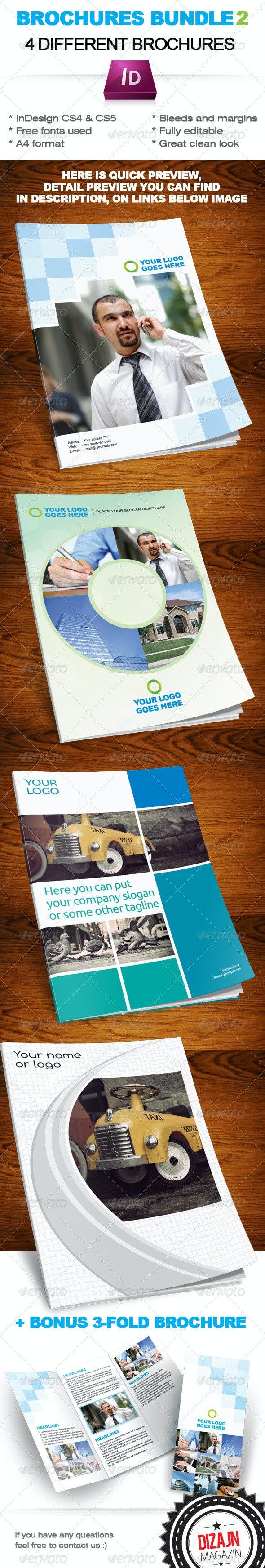Brochures Bundle 2 InDesign template - Corporate Brochures