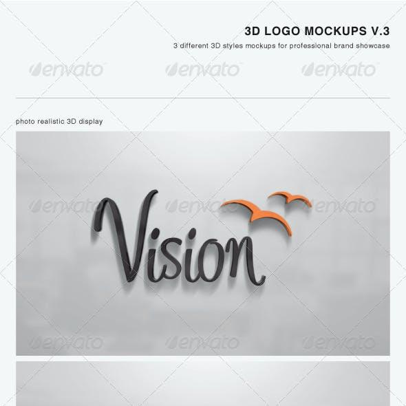 3D Logo Mockups V.3