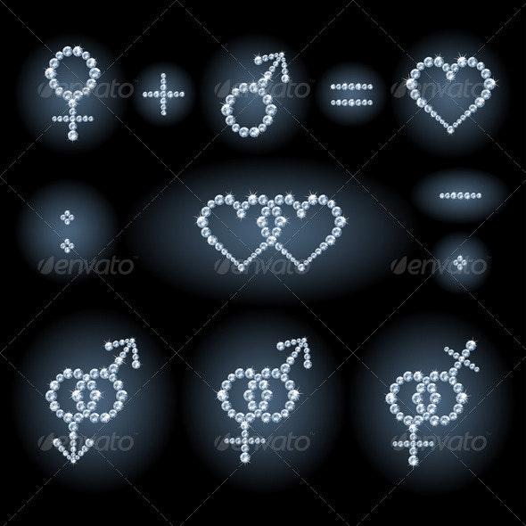 Gender symbols - Decorative Symbols Decorative