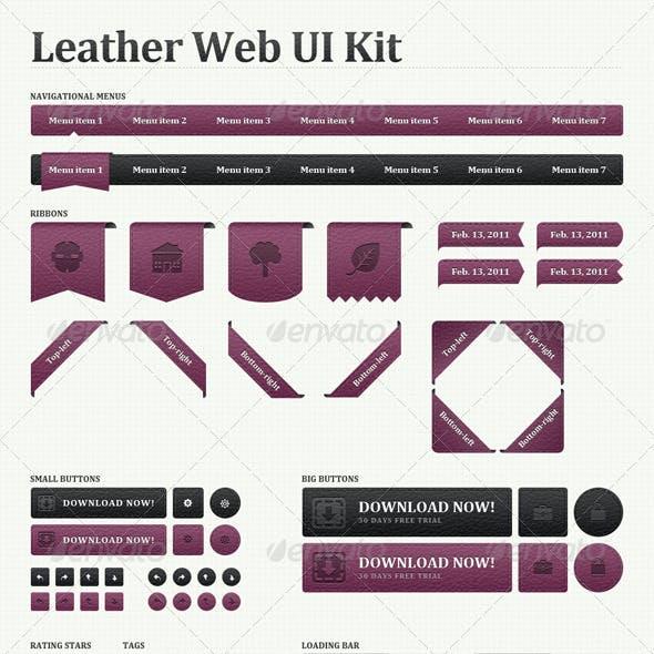 Leather Web User Interface Kit