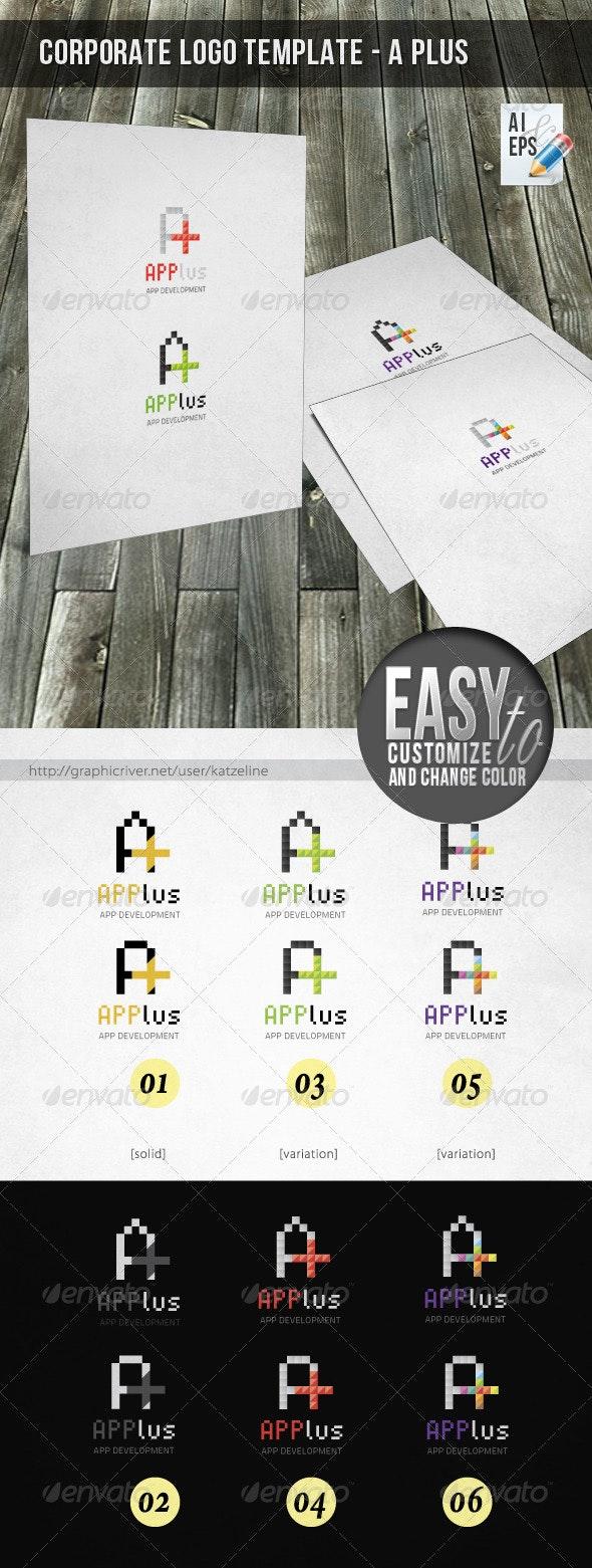 Corporate Logo - A Plus - Letters Logo Templates