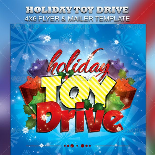 Holiday Toy Drive Flyer & Mailer