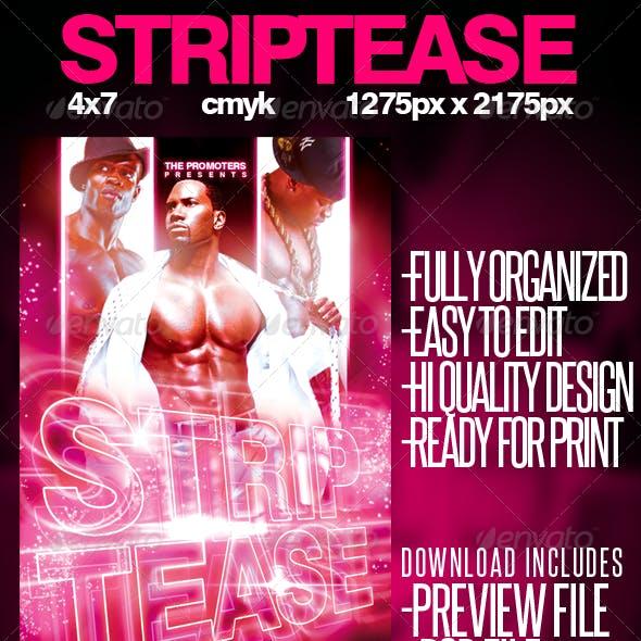 Strip Tease Flyer Template