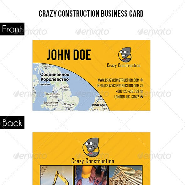 Crazy Construction Business Card