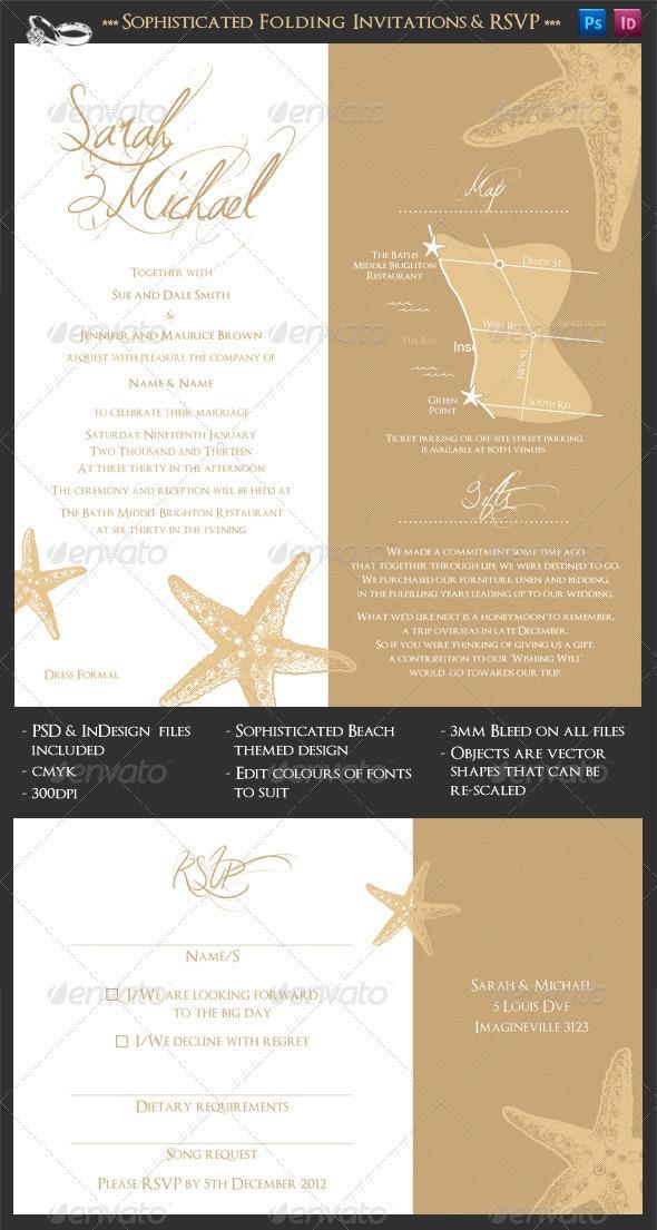 Sophisticated Folding Wedding Invitation Suite - Weddings Cards & Invites