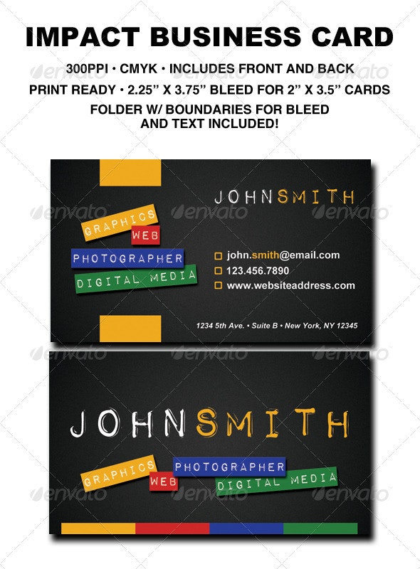 Sleek Impact Business Card - Creative Business Cards