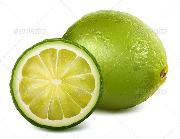 Fresh Sliced Lime - Food Objects
