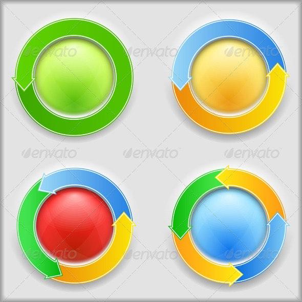 Circular Arrows - Web Elements Vectors