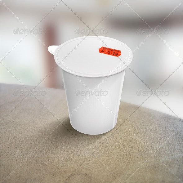 Resizable Yoghurt Cup - Objects Illustrations