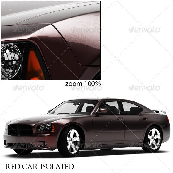Red Car Isolated