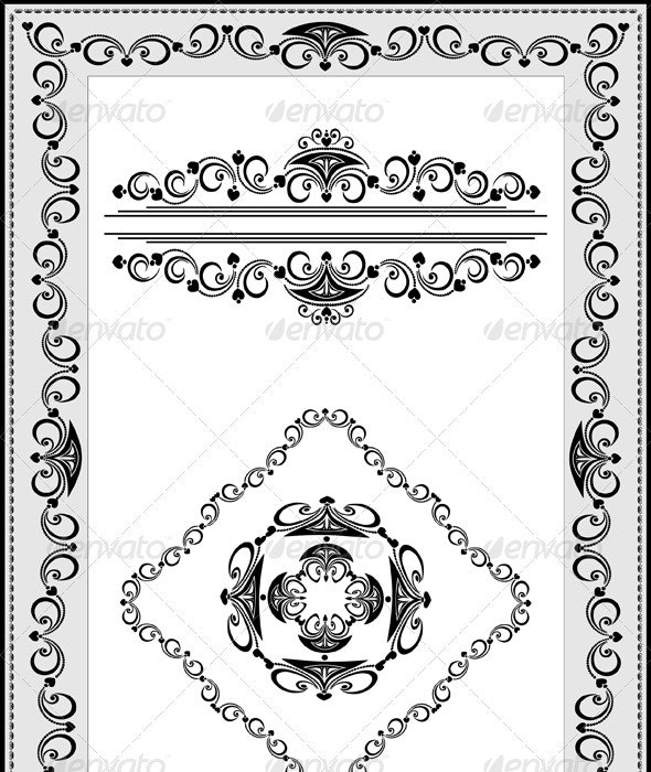 Frame with Details of the Ethnic Ornament - Borders Decorative
