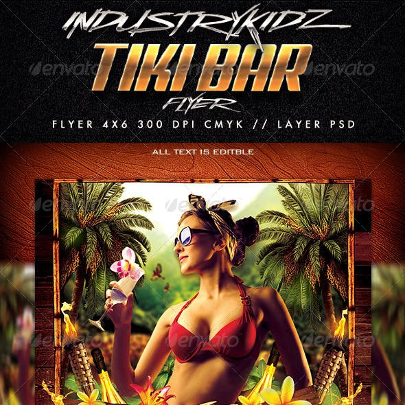 Tiki Bar Party Flyer