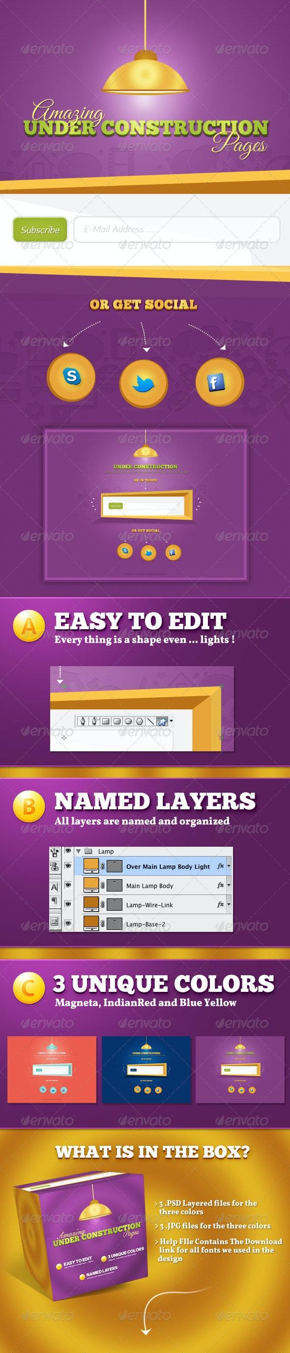 3 Under Construction Pages - Miscellaneous Web Elements