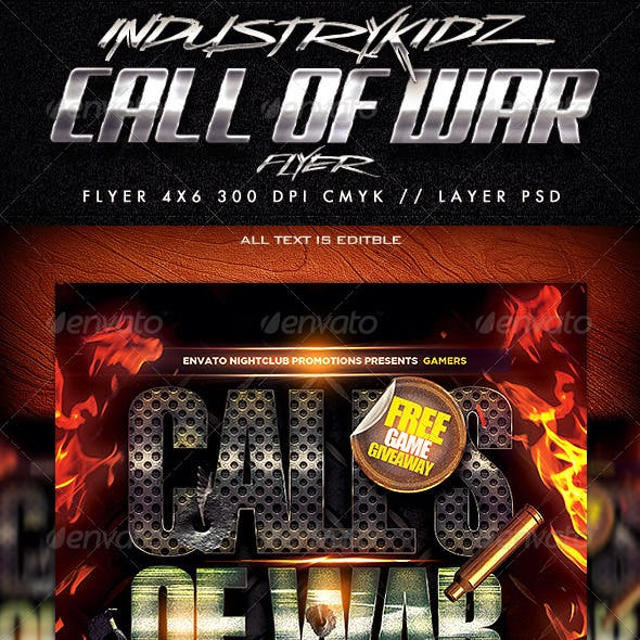 Gaming Style Flyer Template