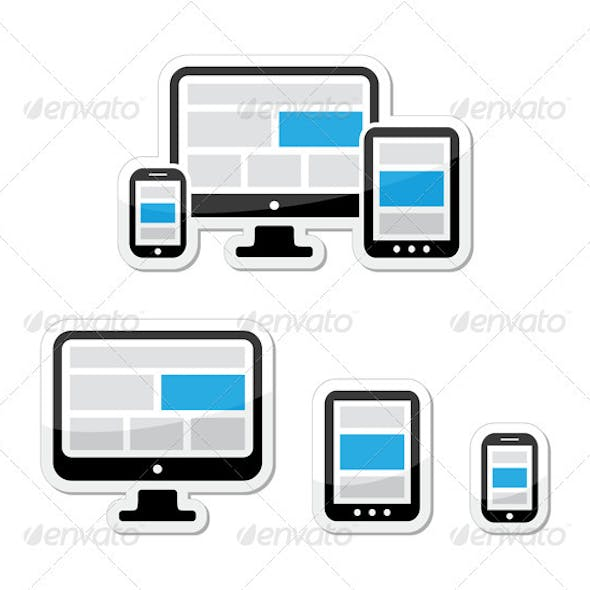 Responsive Design Web Concept - Screens