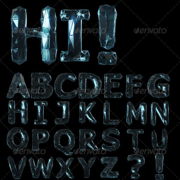 Glassy Letters Alphabet