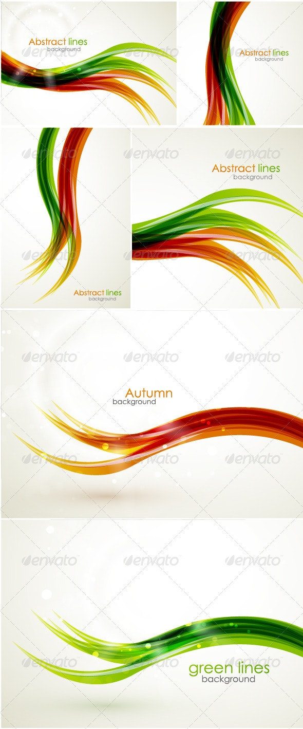 Abstract wavy lines - Backgrounds Business