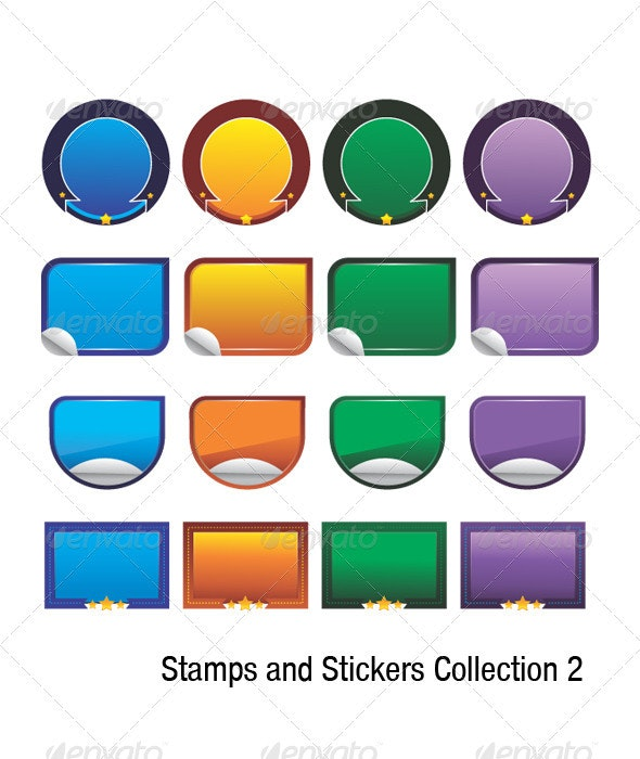 Stamps and Stickers Collection - Miscellaneous Vectors