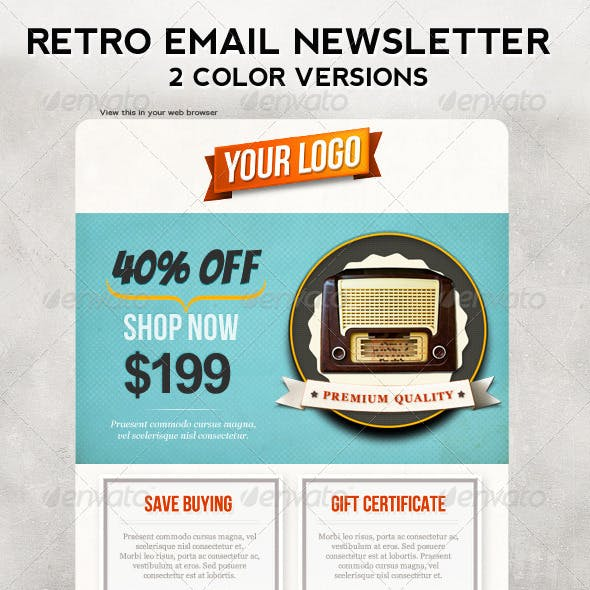 E-commerce Newsletter Graphics, Designs & Templates