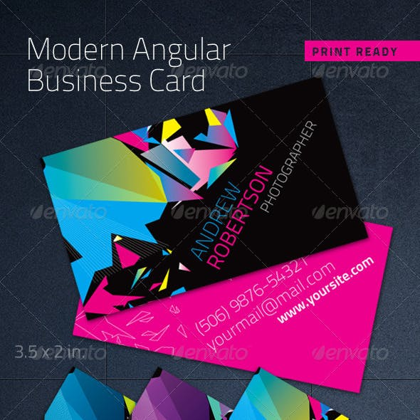 Modern Angular Business Card - Print Ready