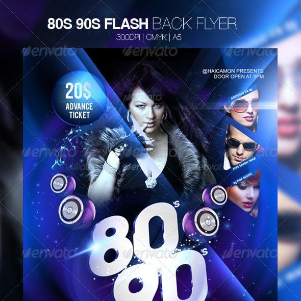 80s 90s Flash Back Flyer